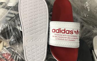 Kiểm tra hộ kinh doanh, phát hiện dây chuyền làm dép nhái Adidas