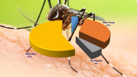 10 địa phương có số ca mắc sốt xuất huyết cao nhất, TPHCM dẫn đầu