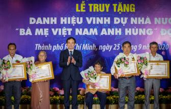 """TPHCM truy tặng danh hiệu """"Bà mẹ Việt Nam anh hùng"""" cho 41 mẹ"""