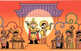 Google Doodle đổi biểu tượng tôn vinh cải lương
