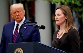 Tổng thống Donald Trump tiến cử bà Barrett làm Thẩm phán mới của Tòa án Tối cao