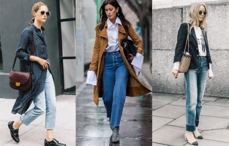Phối quần mom jeans tôn dáng đến văn phòng