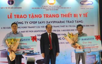 SAVIPHARM trao tặng các thiết bị y tế trị giá 5 tỷ đồng cho Sở Y tế TP.HCM