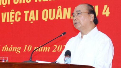 Thủ tướng Nguyễn Xuân Phúc: Đoàn công tác Quân khu 4 đã dũng cảm hy sinh để cứu dân