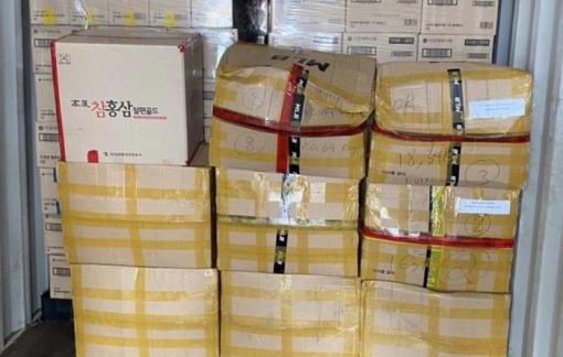 Lượng lớn mỹ phẩm Hàn Quốc nhập lậu bị thu giữ tại Cát Lái