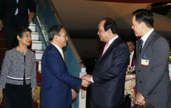 Thủ tướng Nhật Bản đến Hà Nội, bắt đầu chuyến công du Việt Nam