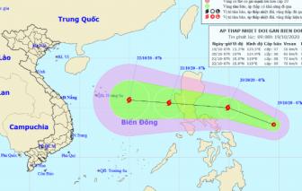 Một cơn bão sắp hình thành đang hướng vào biển Đông