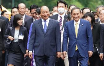 Thủ tướng Nguyễn Xuân Phúc đón, hội đàm với Thủ tướng Nhật Bản