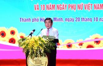 """Chủ tịch UBND TPHCM Nguyễn Thành Phong: """"Hội LHPN thành phố chăm lo thiết thực đến đời sống phụ nữ, trẻ em"""""""