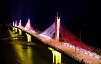 Quảng Ngãi thông xe kỹ thuật cầu dây văng 2.250 tỷ đồng