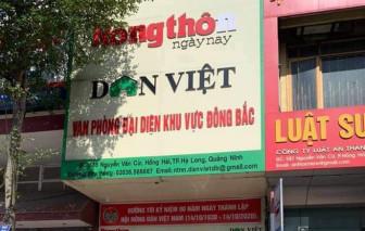 Khởi tố Trưởng văn phòng đại diện báo Dân Việt ở Quảng Ninh