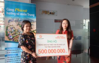 Báo Phụ nữ tiếp nhận 500 triệu đồng từ Tập đoàn Hưng Thịnh ủng hộ đồng bào miền Trung lũ lụt
