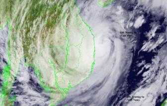 Sáng 28/10, bão áp sát đất liền, gió giật cấp 13, nhiều cây xanh ngã đổ
