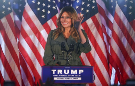 Đệ nhất phu nhân Melania Trump lần đầu vận động tranh cử cho chồng
