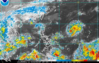Sau bão số 9,  bão số 10 đang mạnh lên có khả năng ảnh hưởng tới miền Trung