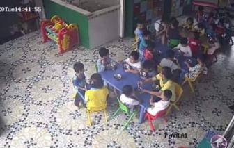 Clip cô giáo mầm non ở quận 9 đánh, cắn học sinh trong giờ ăn