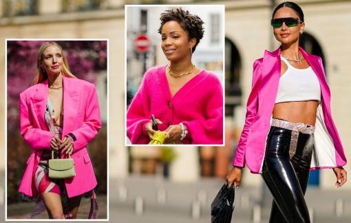 Trang phục sắc hồng nổi bật mùa mốt cuối năm
