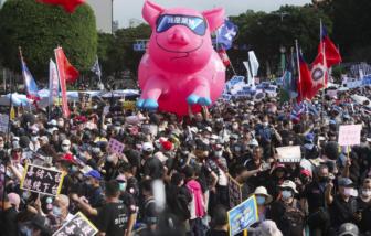 Người dân Đài Loan phản đối nhập khẩu thịt heo có chất phụ gia từ Mỹ