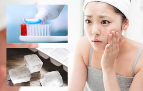 Kem đánh răng, đá viên trị mụn ẩn dưới da