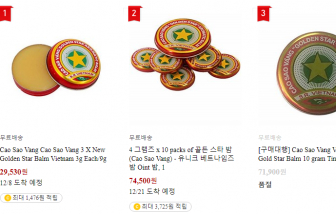 Cao Sao Vàng bán tại Hàn Quốc gây chú ý