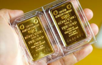 Giá vàng giảm xuống dưới 55 triệu đồng/lượng