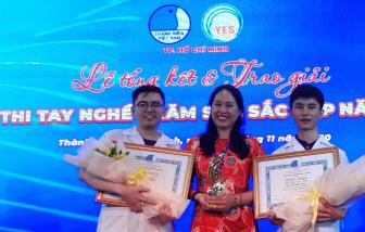 Hai nam sinh viên giành giải cao nhất hội thi chăm sóc sắc đẹp