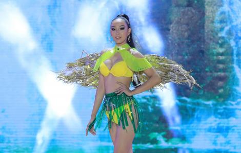 """Trang phục thông điệp môi trường gây tranh cãi trong đêm chung kết """"Hoa khôi Du lịch Việt Nam 2020"""""""