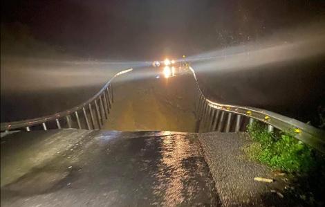 Quốc lộ 26 tại Đắk Lắk tiếp tục sạt lở, sụt lún