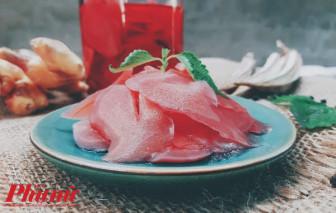Gừng hồng Gari - món ăn giữ ấm cho những ngày chớm Đông