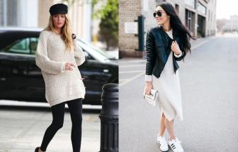 Muôn kiểu phối váy len cho ngày trở lạnh