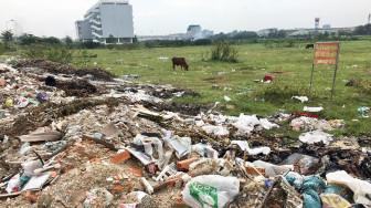Khu tái định cư 38ha, rác chất thành núi