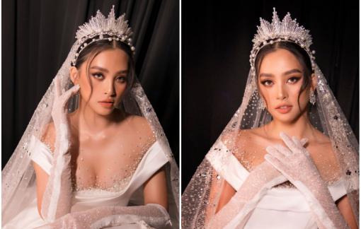 Hoa hậu Tiểu Vy lộng lẫy trong thiết kế váy cưới Hoàng gia