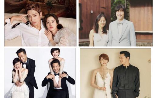 """4 cặp vợ chồng sao châu Á đang sở hữu """"hạnh phúc vàng"""""""