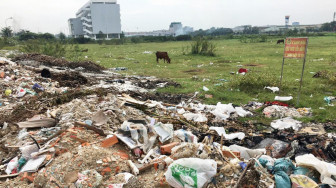 Quận 12 chỉ đạo giải quyết dứt điểm tình trạng đổ rác thải tại khu tái định cư 38ha