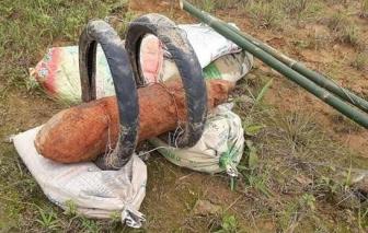 Quảng Ngãi phát hiện, hủy nổ quả bom nặng gần 130kg