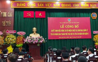 Ông Nguyễn Thành Vinh giữ chức Chánh án Tòa án nhân dân TP. Thủ Đức