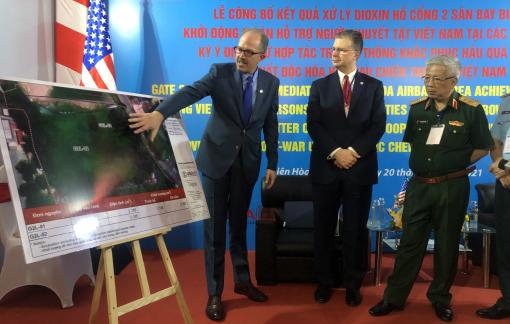Gần 1.200m3 trầm tích nhiễm dioxin đã được loại bỏ khỏi khu vực sân bay Biên Hòa