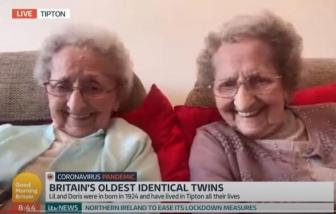 """COVID-19 phá vỡ kế hoạch """"trăm tuổi"""" của cặp song sinh cao tuổi nhất nước Anh"""