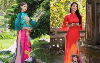 Chọn áo dài Tết cùng các nàng hậu Việt Nam