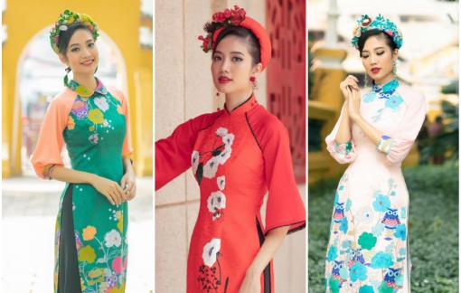 Người đẹp Ninh Hoàng Ngân gợi ý những mẫu áo dài cách tân diện ngày tết