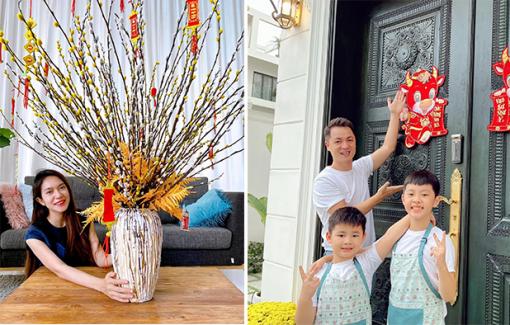 Nghệ sĩ Việt trang hoàng nhà cửa, tự tay trồng hoa, làm mứt dừa đón Tết