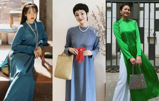 Sao Việt mặc áo dài xưa ngày mùng 1 Tết Tân Sửu