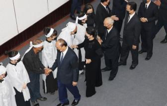 Nhiều đoàn đại biểu đến viếng Lễ tang nguyên Phó thủ tướng Trương Vĩnh Trọng