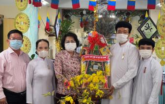 Lãnh đạo Mặt trận Tổ quốc Việt Nam TPHCM chúc mừng Lễ Thượng Ngươn của đạo Cao Đài