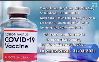 """""""Chung một tấm lòng"""" ủng hộ mua vắc-xin COVID-19"""