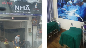 TPHCM: Phát hiện cơ sở thẩm mỹ chui bên trên quán cà phê