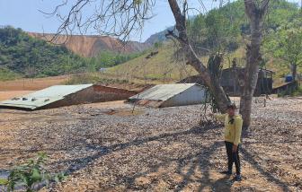Quảng Nam: Nguy hiểm treo trên đầu dân do san đỉnh núi làm cụm công nghiệp