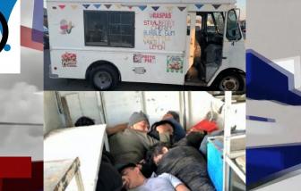 Người di cư bất hợp pháp nằm chồng lên nhau trong xe lạnh chở kem tìm đường vào Mỹ