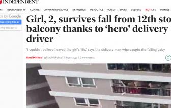 """Báo Anh ngưỡng mộ """"người hùng"""" Nguyễn Ngọc Mạnh cứu bé gái rơi từ tầng 12"""