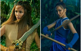 H'Hen Niê hoang dã trong hình ảnh công chúa Raya của Disney
